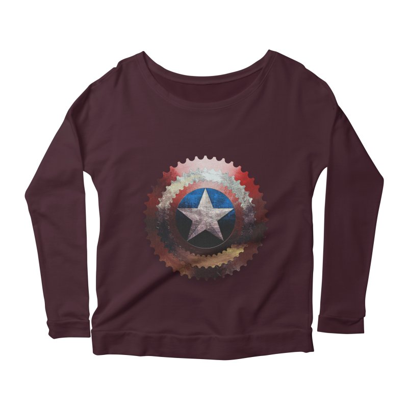 captain bike  Women's Longsleeve Scoopneck  by kumpast's Artist Shop