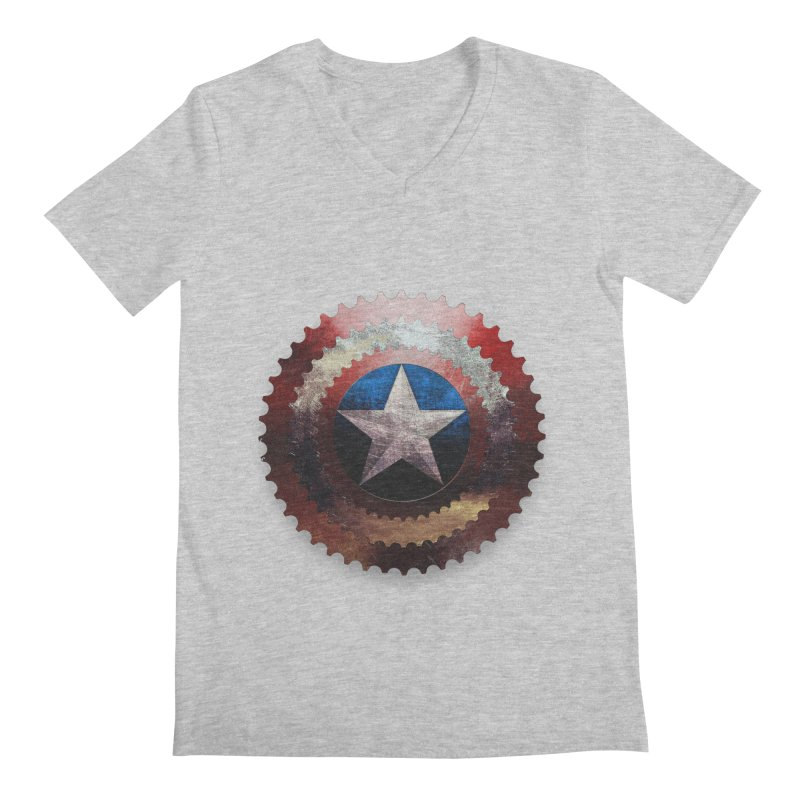 captain bike  Men's V-Neck by kumpast's Artist Shop