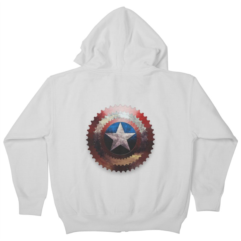 captain bike  Kids Zip-Up Hoody by kumpast's Artist Shop