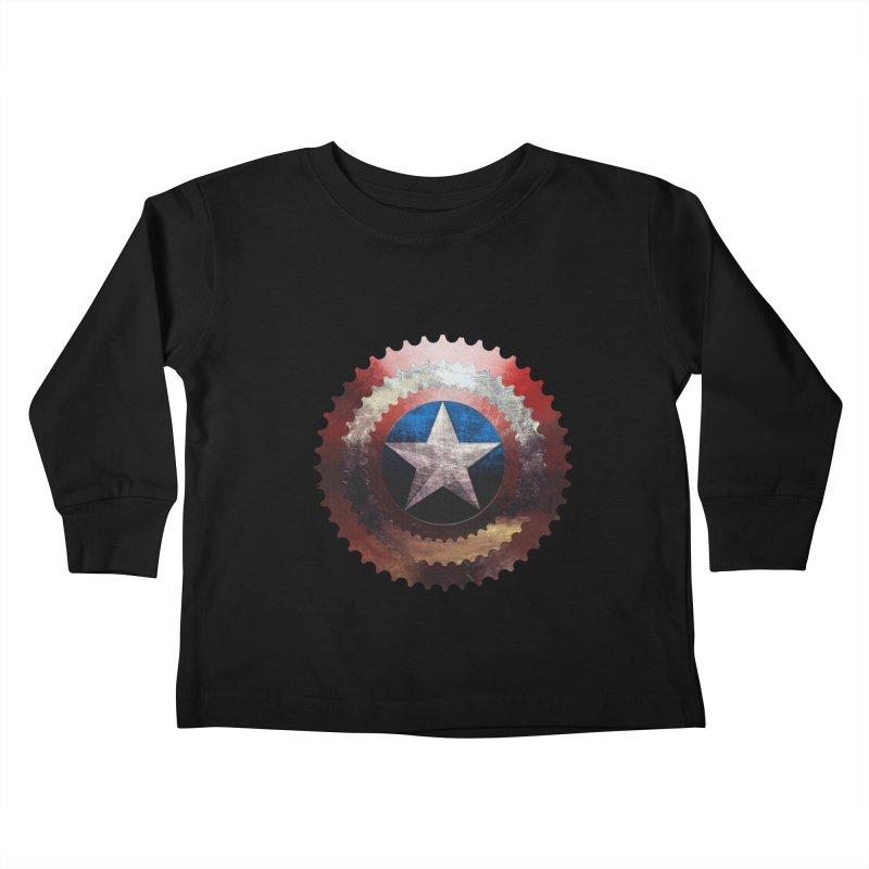 captain bike  Kids Toddler Longsleeve T-Shirt by kumpast's Artist Shop