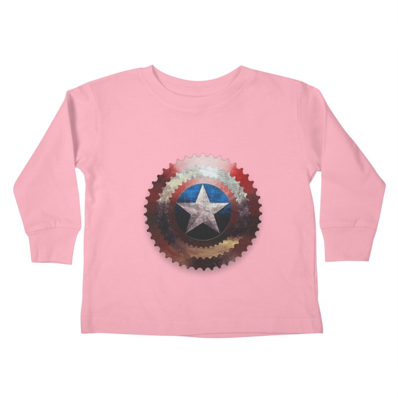 captain bike  Kids Toddler Longsleeve T-Shirt by kumpast's Artist Shop