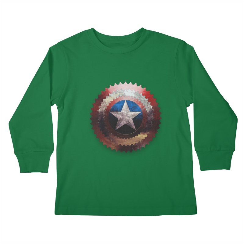 captain bike  Kids Longsleeve T-Shirt by kumpast's Artist Shop