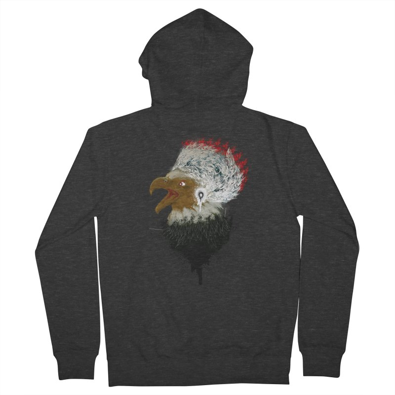 the leader indian eagle chief Men's Zip-Up Hoody by kumpast's Artist Shop
