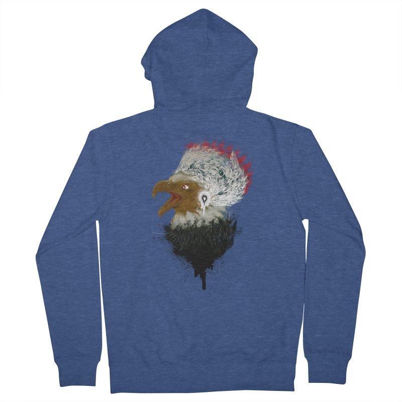the leader indian eagle chief Men's Zip-Up Hoody by kumpast's Artist Shop