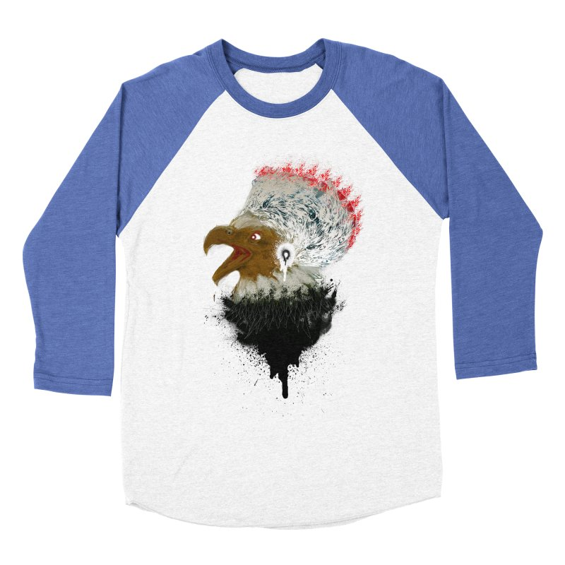 the leader indian eagle chief Women's Baseball Triblend T-Shirt by kumpast's Artist Shop