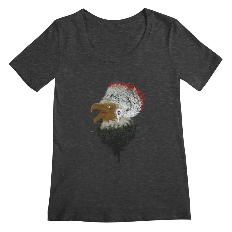 the leader indian eagle chief Women's Scoopneck by kumpast's Artist Shop
