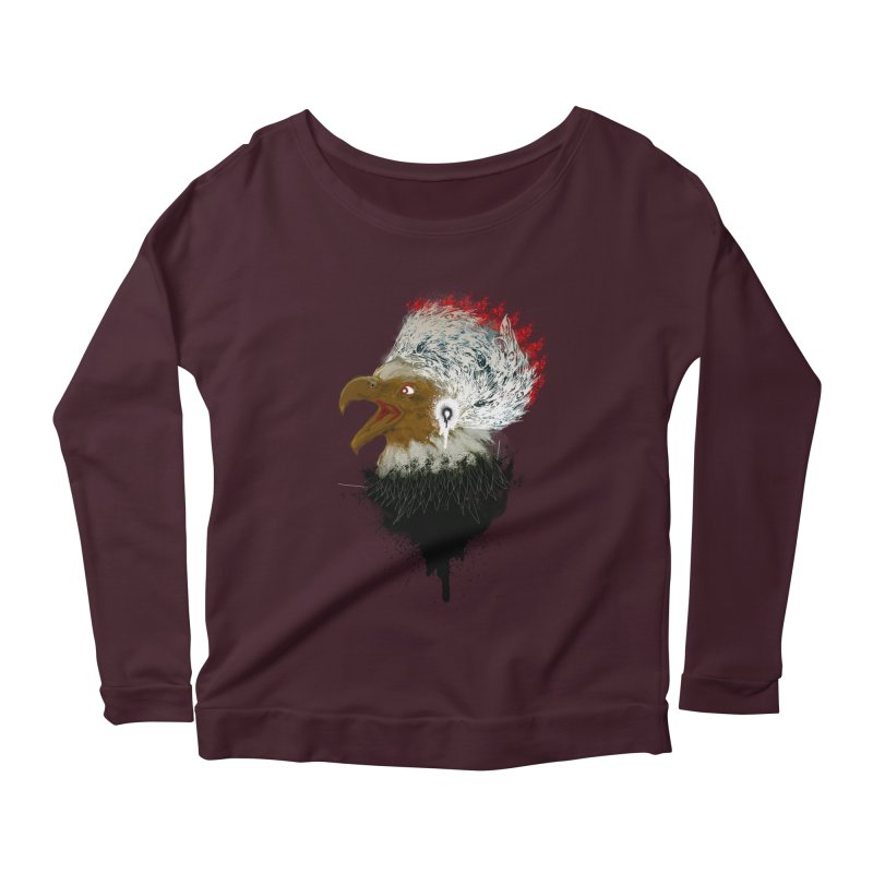 the leader indian eagle chief Women's Longsleeve Scoopneck  by kumpast's Artist Shop