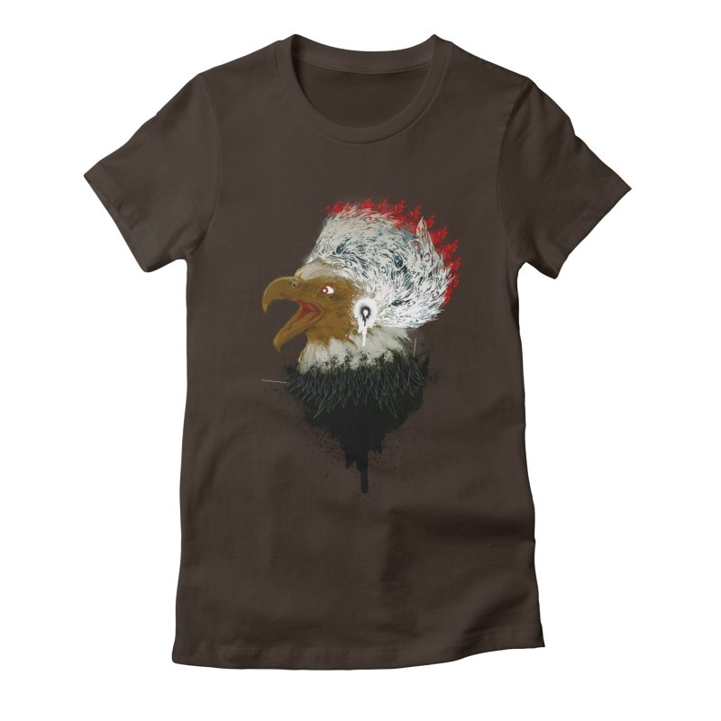 the leader indian eagle chief Women's Fitted T-Shirt by kumpast's Artist Shop