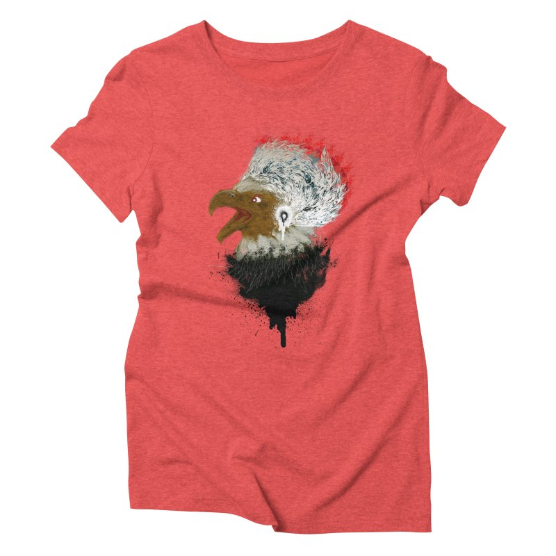 the leader indian eagle chief Women's Triblend T-Shirt by kumpast's Artist Shop