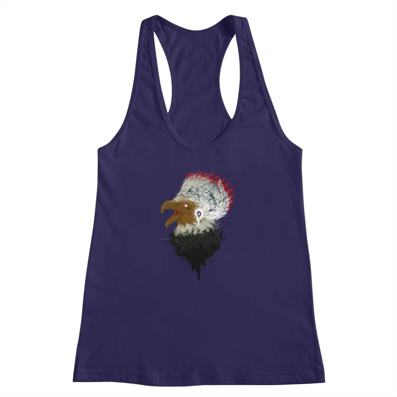 the leader indian eagle chief Women's Racerback Tank by kumpast's Artist Shop