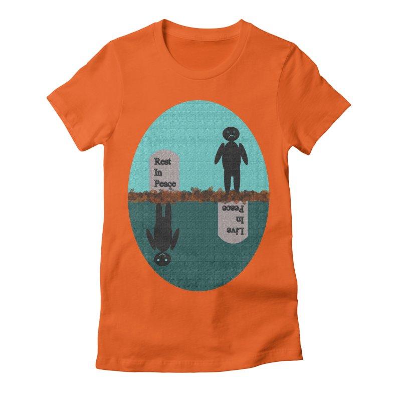 rip vs lip Women's Fitted T-Shirt by kumpast's Artist Shop
