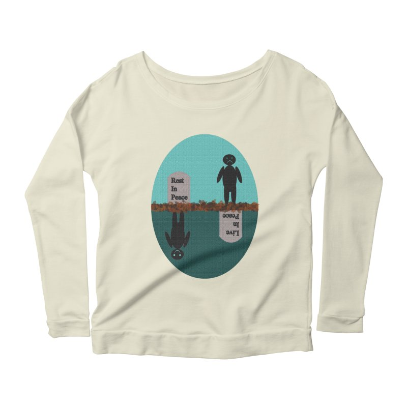 rip vs lip Women's Longsleeve Scoopneck  by kumpast's Artist Shop