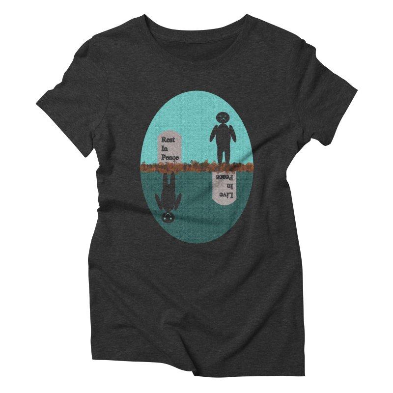 rip vs lip Women's Triblend T-Shirt by kumpast's Artist Shop
