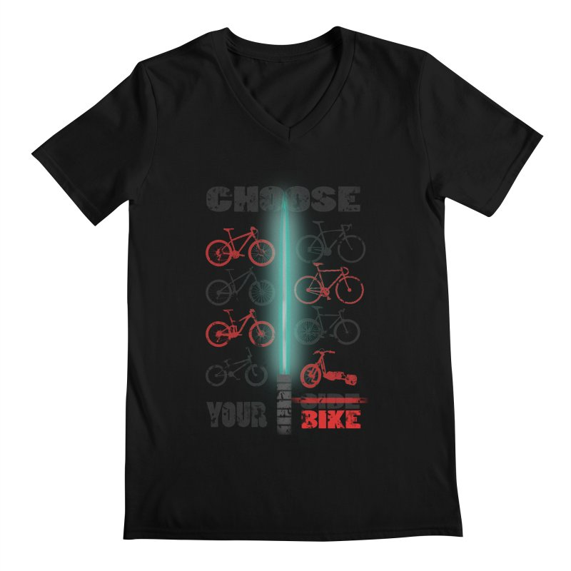 choose your bike Men's V-Neck by kumpast's Artist Shop