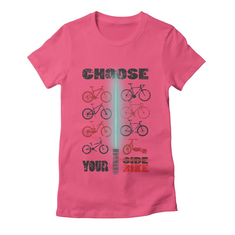 choose your bike Women's Fitted T-Shirt by kumpast's Artist Shop