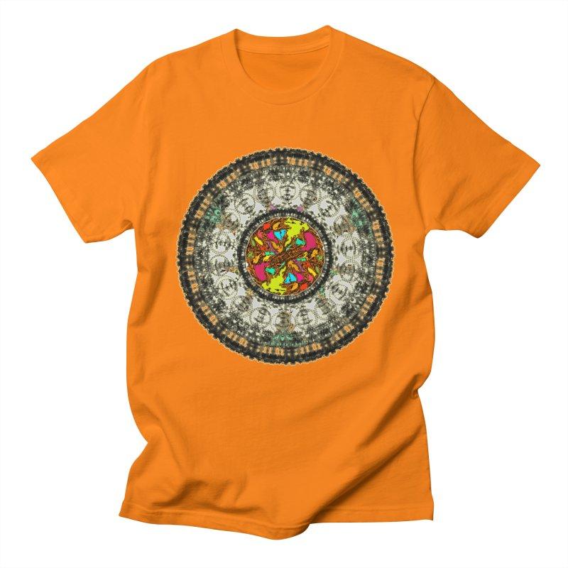 the mandala around Men's T-Shirt by kumpast's Artist Shop