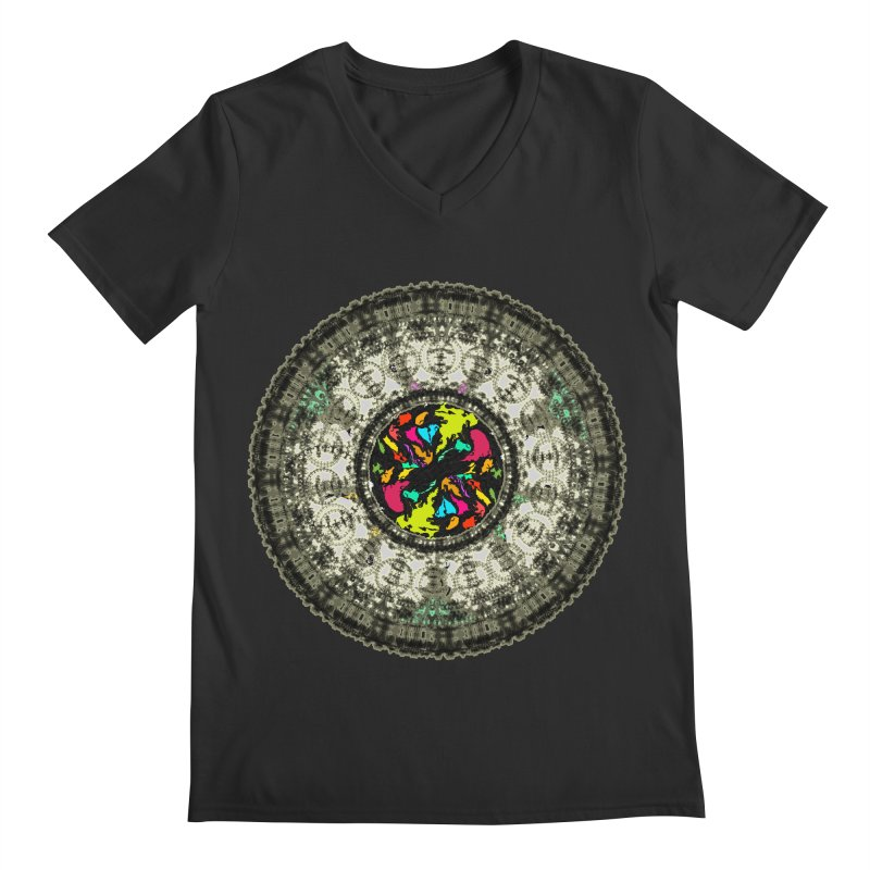 the mandala around Men's V-Neck by kumpast's Artist Shop