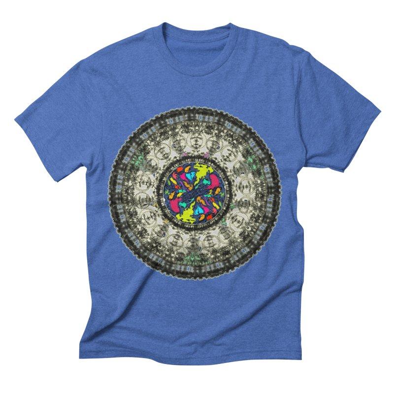 the mandala around Men's Triblend T-shirt by kumpast's Artist Shop