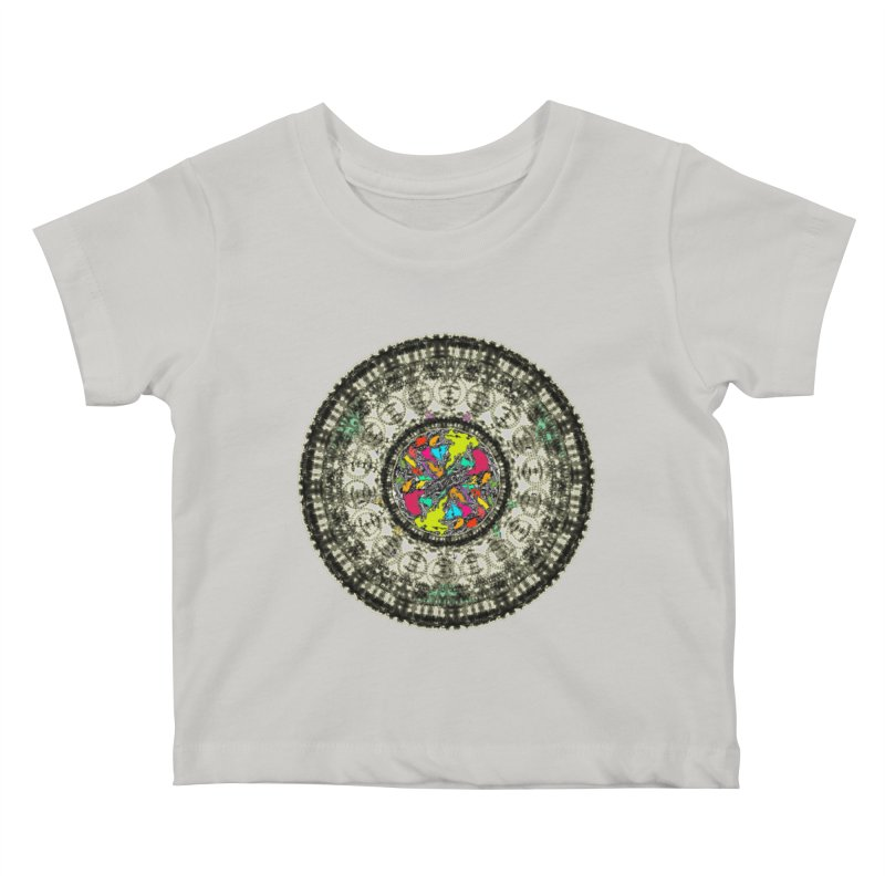 the mandala around Kids Baby T-Shirt by kumpast's Artist Shop