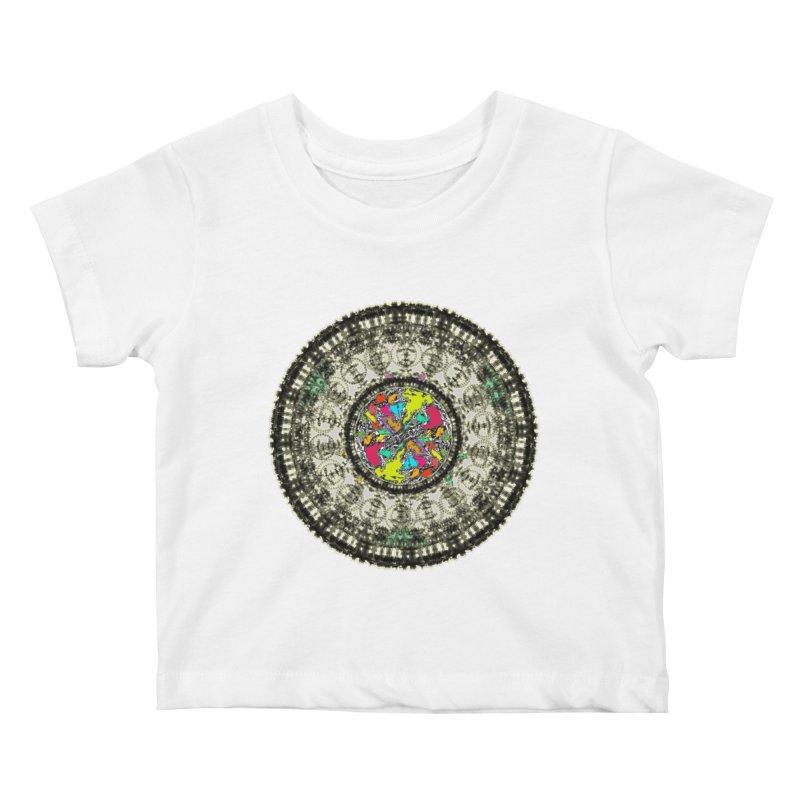 the mandala around Kids Baby T-Shirt by kumpast's Artist Shop