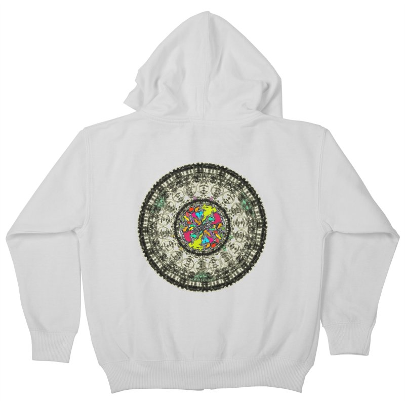 the mandala around Kids Zip-Up Hoody by kumpast's Artist Shop