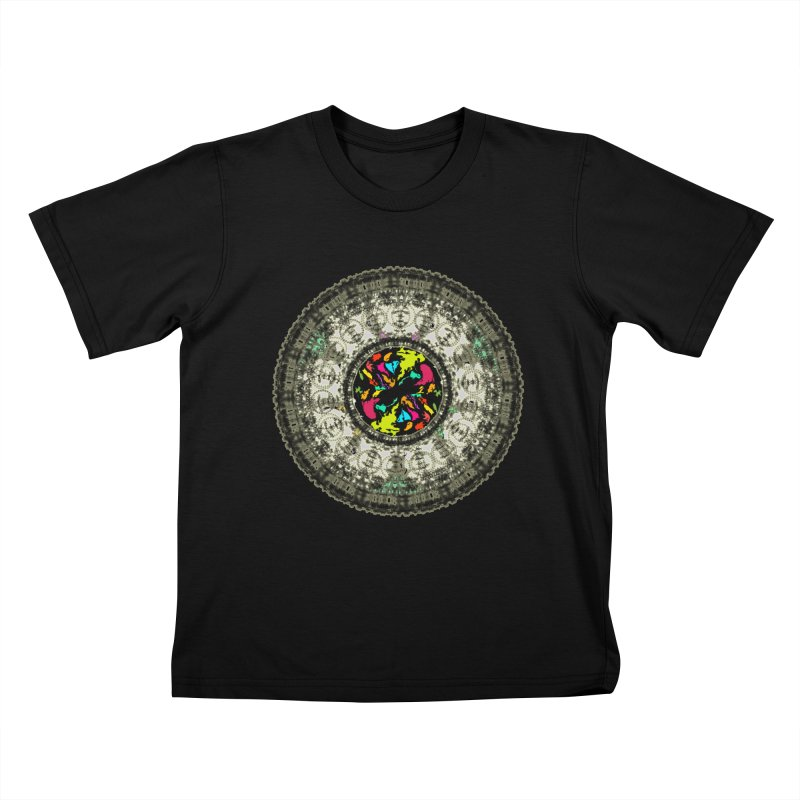 the mandala around Kids T-Shirt by kumpast's Artist Shop