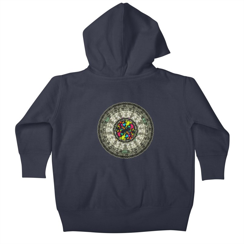 the mandala around Kids Baby Zip-Up Hoody by kumpast's Artist Shop
