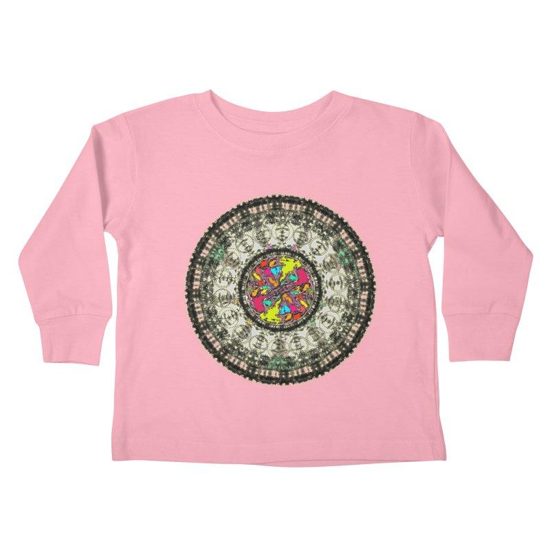 the mandala around Kids Toddler Longsleeve T-Shirt by kumpast's Artist Shop