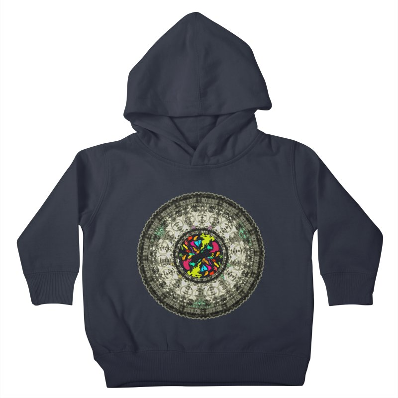 the mandala around Kids Toddler Pullover Hoody by kumpast's Artist Shop