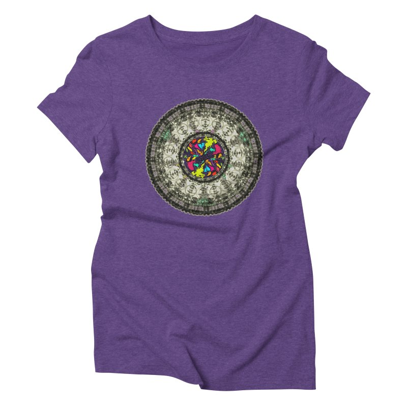 the mandala around Women's Triblend T-shirt by kumpast's Artist Shop
