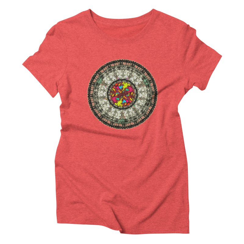the mandala around Women's Triblend T-Shirt by kumpast's Artist Shop