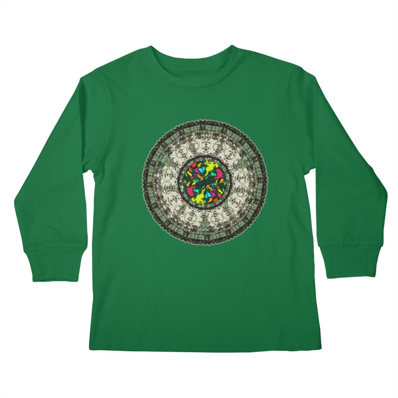 the mandala around Kids Longsleeve T-Shirt by kumpast's Artist Shop