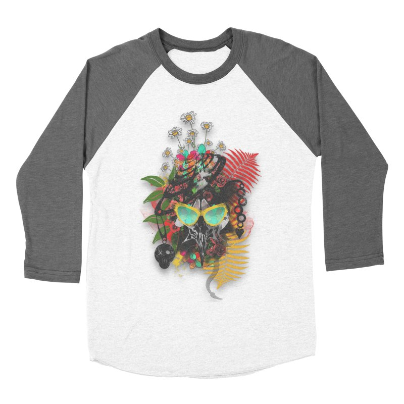 skull spring before summer Men's Baseball Triblend T-Shirt by kumpast's Artist Shop