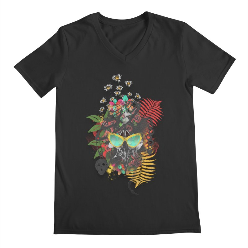 skull spring before summer Men's V-Neck by kumpast's Artist Shop