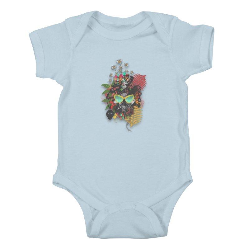 skull spring before summer Kids Baby Bodysuit by kumpast's Artist Shop