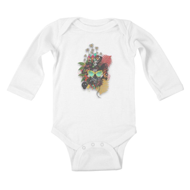skull spring before summer Kids Baby Longsleeve Bodysuit by kumpast's Artist Shop