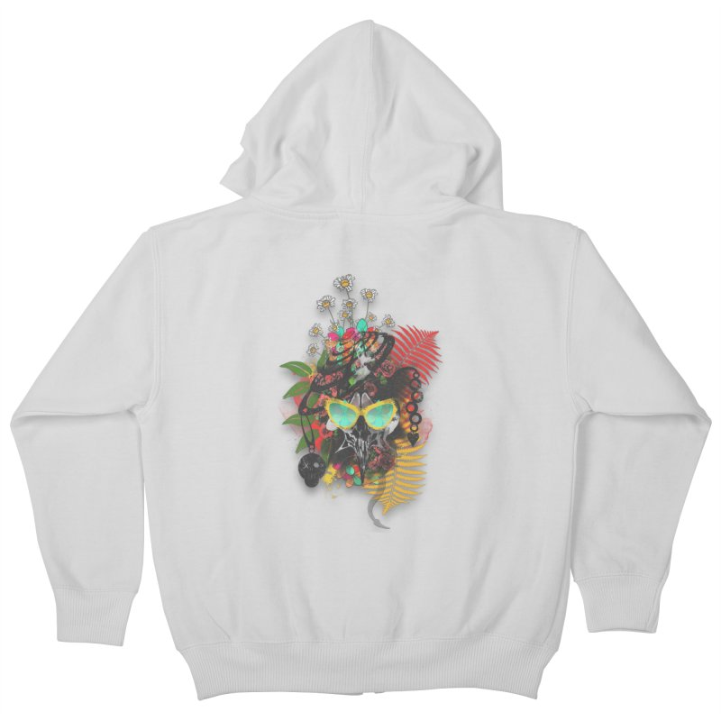 skull spring before summer Kids Zip-Up Hoody by kumpast's Artist Shop