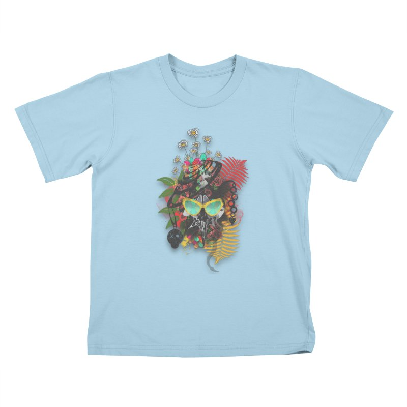 skull spring before summer Kids T-shirt by kumpast's Artist Shop