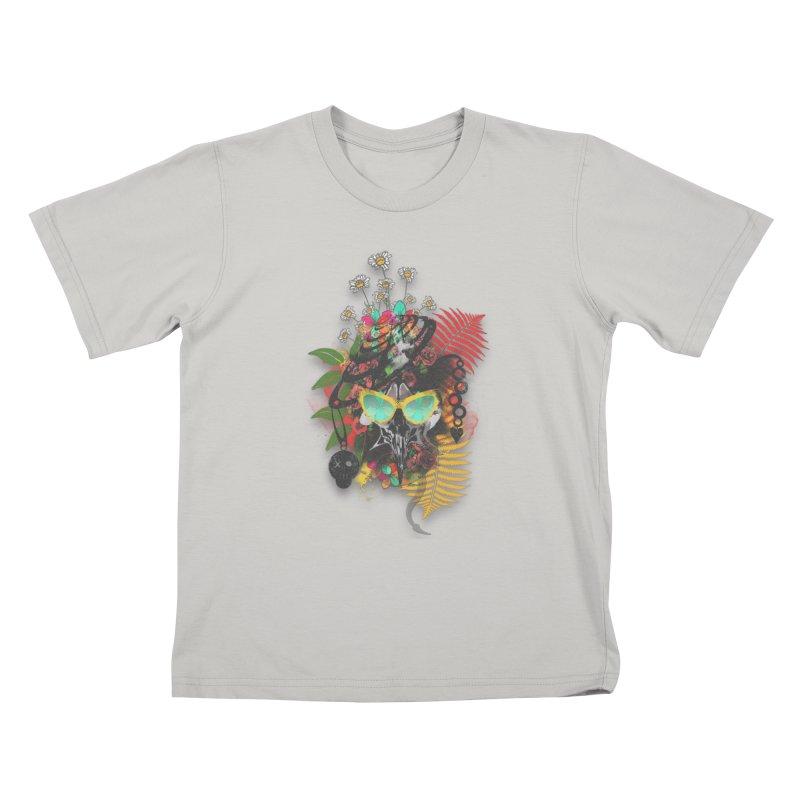 skull spring before summer Kids T-shirt by kumpast's Artist Shop