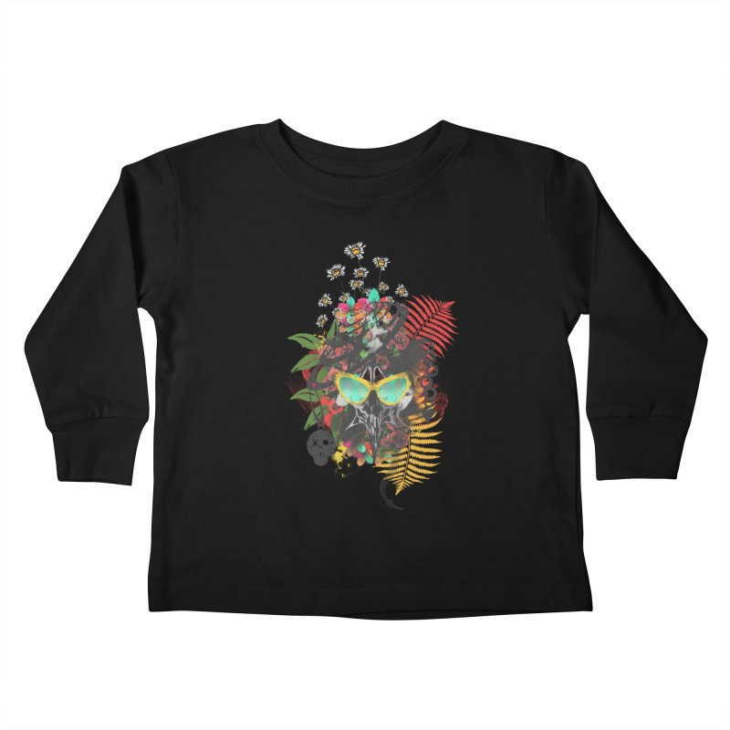 skull spring before summer Kids Toddler Longsleeve T-Shirt by kumpast's Artist Shop