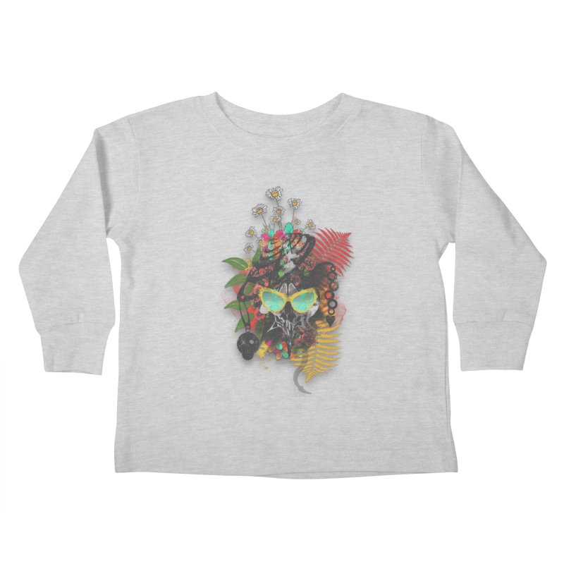 skull spring before summer Kids Toddler Longsleeve T-Shirt by kumpast's Artist Shop