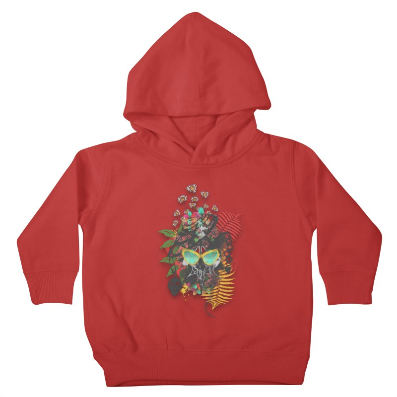 skull spring before summer Kids Toddler Pullover Hoody by kumpast's Artist Shop