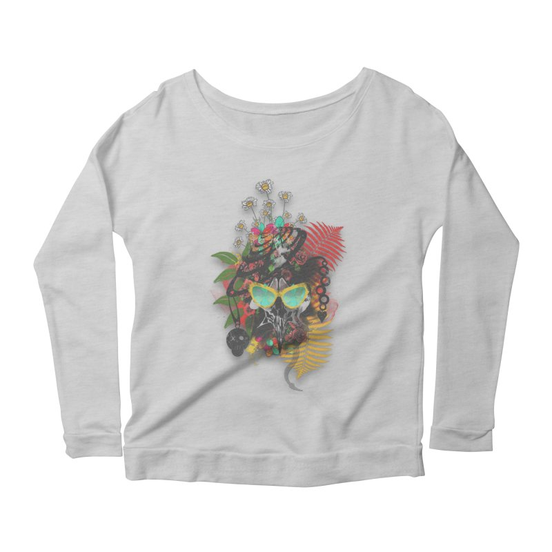 skull spring before summer Women's Longsleeve Scoopneck  by kumpast's Artist Shop