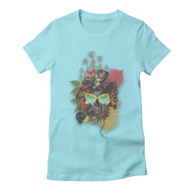 skull spring before summer Women's Fitted T-Shirt by kumpast's Artist Shop