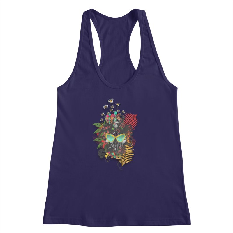 skull spring before summer Women's Racerback Tank by kumpast's Artist Shop