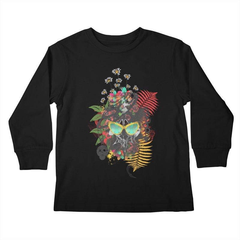 skull spring before summer Kids Longsleeve T-Shirt by kumpast's Artist Shop