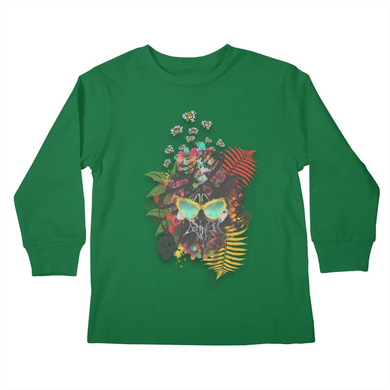 skull spring before summer Kids Longsleeve T-Shirt by kumpast's Artist Shop