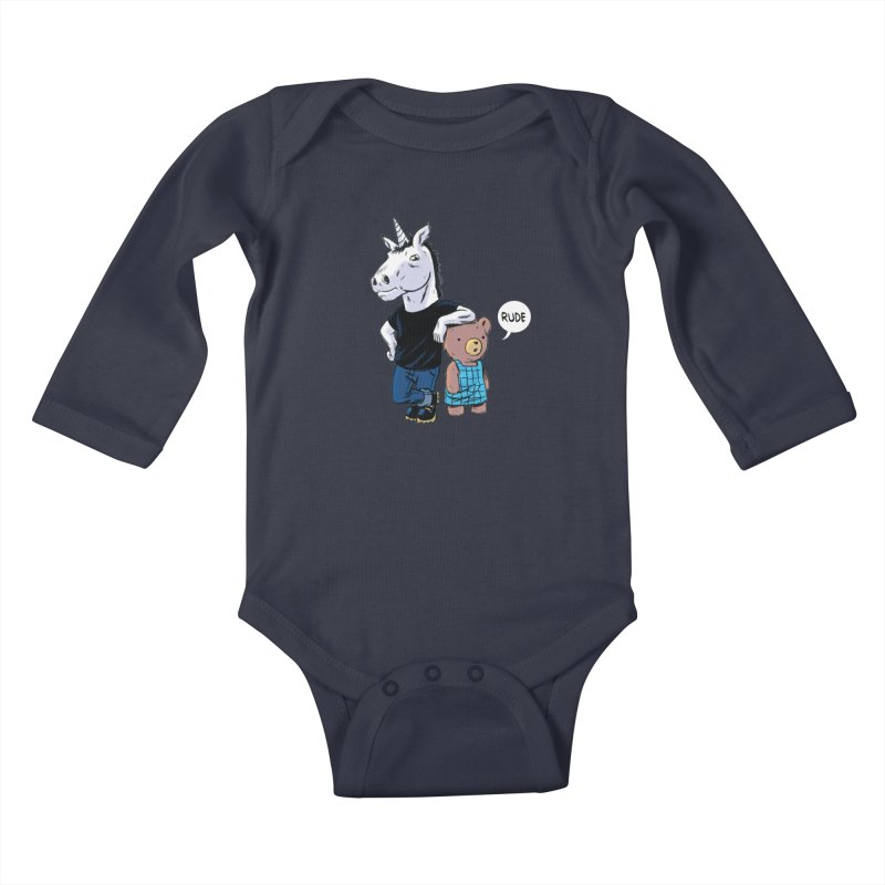Sally and Hank Kids Baby Longsleeve Bodysuit by The Kurdles' T-shirt Shop