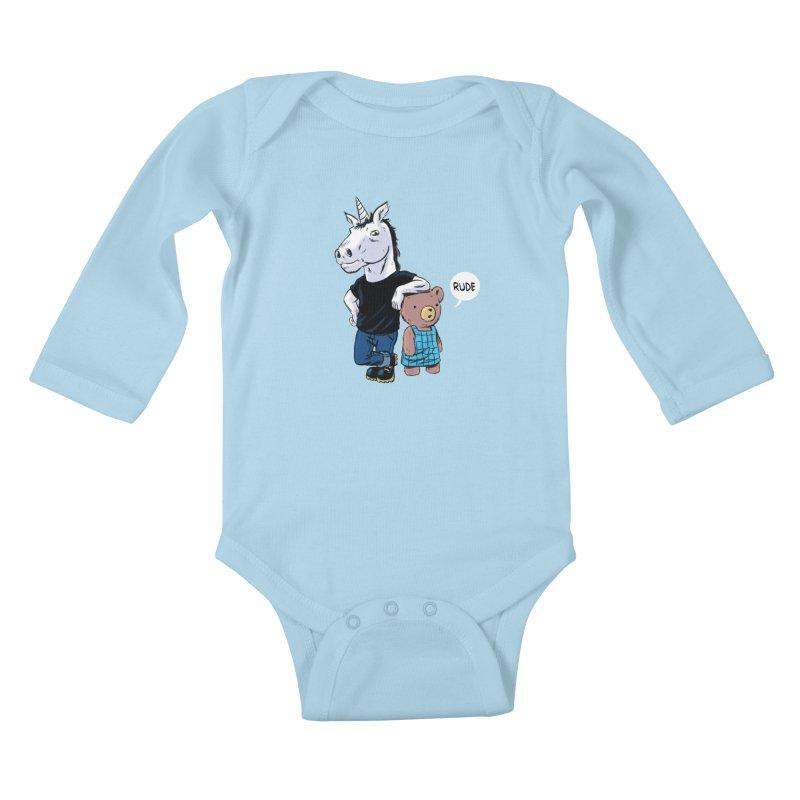 Sally and Hank Kids Baby Longsleeve Bodysuit by The Kurdles' T-shirt Shop