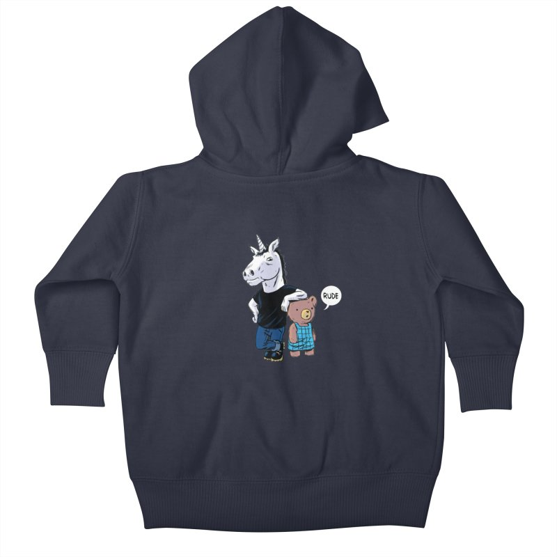 Sally and Hank Kids Baby Zip-Up Hoody by The Kurdles' T-shirt Shop